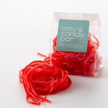 Load image into Gallery viewer, Strawberry Licorice Laces Amy's Candy Bar Chicago
