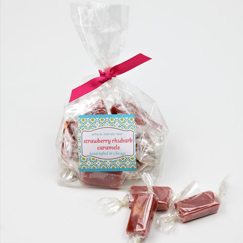 Strawberry Rhubarb Caramels