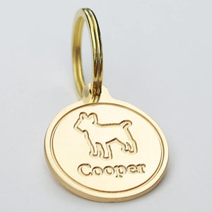 Load image into Gallery viewer, Deep Engraved Dog Tag For Dogs Breed