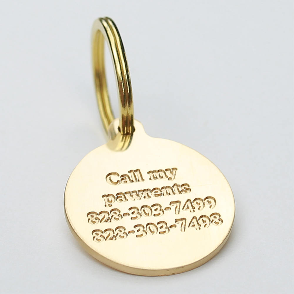 Load image into Gallery viewer, Deep Engraving Dog Tag Back Side