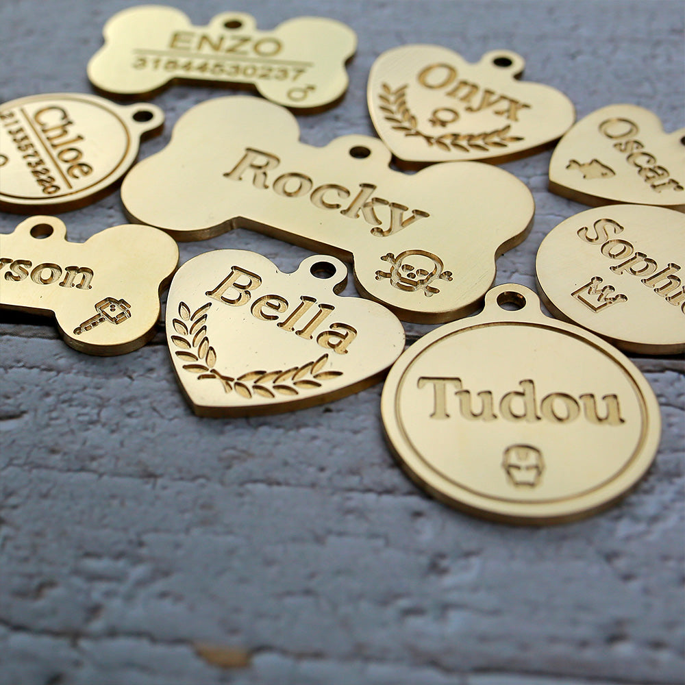 Load image into Gallery viewer, Brass Dog Tags