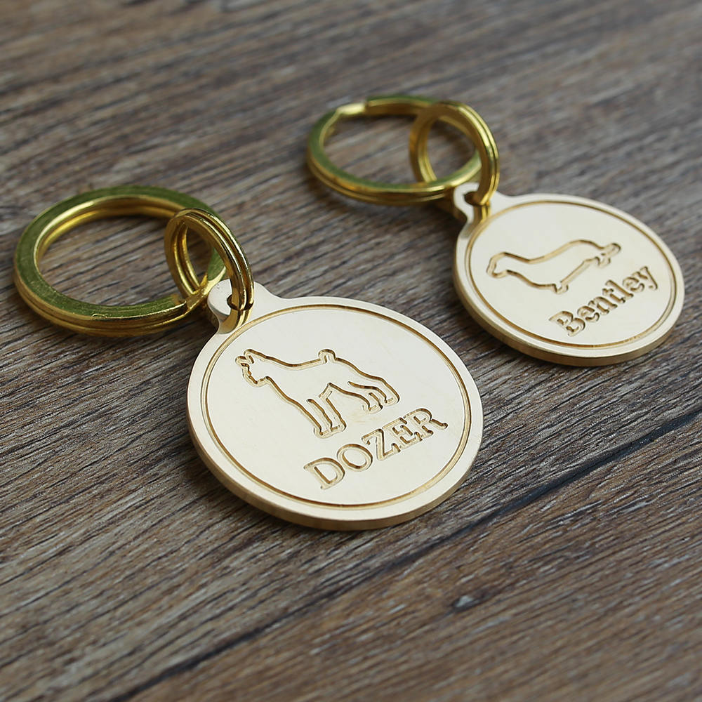 Load image into Gallery viewer, Two Deep Engraved Dog Tags