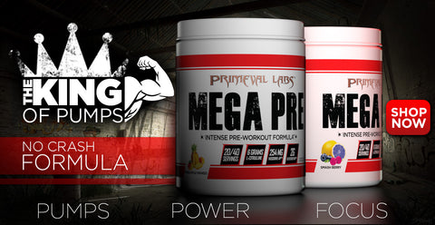 Mega Pre is the king of stim-free pump pre workouts.