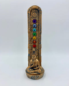 "Buddha Chakra Stone Standing Incense Burner (9"") - Shag Alternative Superstore"