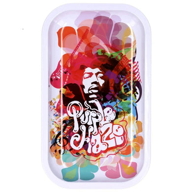 Famous Brandz: Rock Legends Jimi Rainbow Haze Metal Rolling Tray - Medium