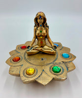 "Round Chakra Incense Burner (4"") - Shag Alternative Superstore"