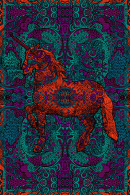 Unicorn 3-D Tapestry (60