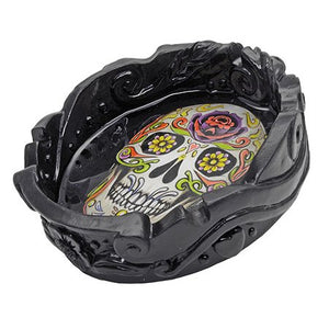 Fuego De Muerte (Fire of Death) Sugar Skull Ashtray - Shag Alternative Superstore