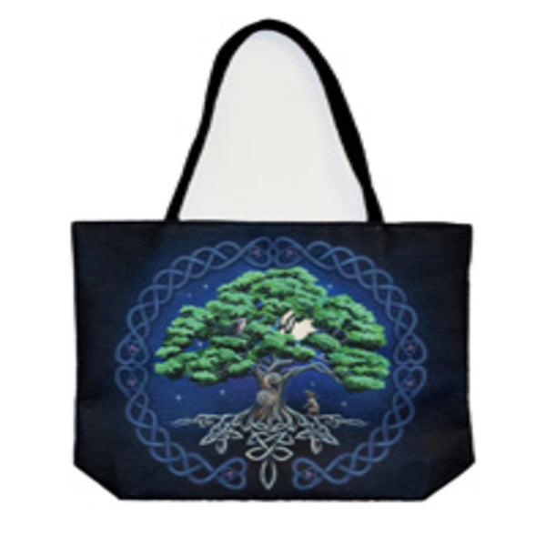 Tree of Life Techno Jute Tote Bag - Shag Alternative Superstore