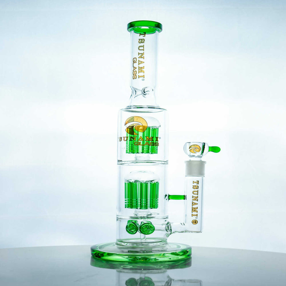 Tsunami Double Tree Perc Water Pipe (15