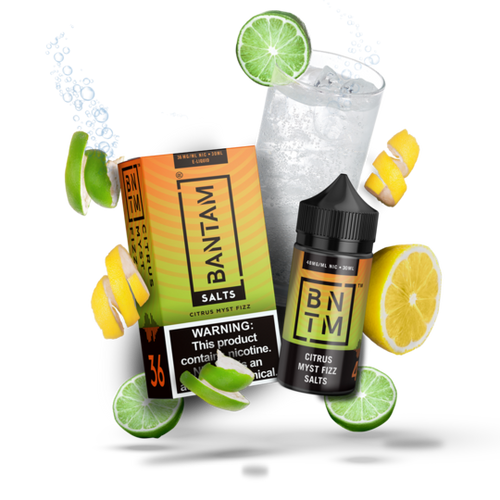 Bantam Salts: Citrus Myst Fizz 30ml - Shag Alternative Superstore