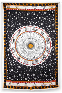 "Astrology Chart Tapestry Tablecloth (52""x80"") - Asst Colors - Shag Alternative Superstore"