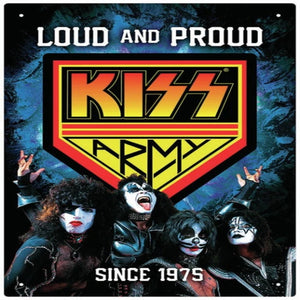 "Kiss Army Tin Sign (8""x11.5"") - Shag Alternative Superstore"