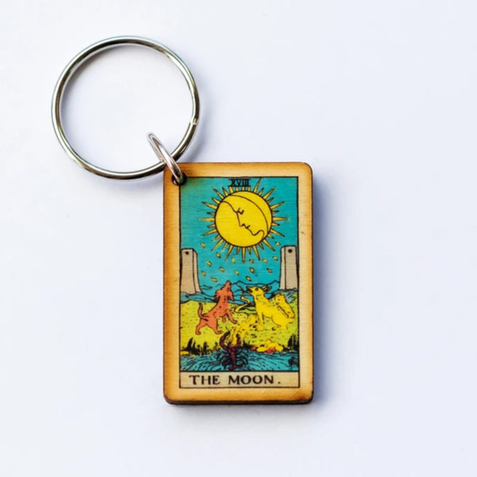 Tarot Card Keychain - The Moon - Shag Alternative Superstore