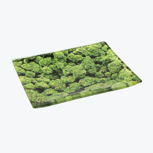 Buds Glass Rolling Tray - Small - Shag Alternative Superstore
