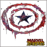 Marvel Zombies Captain America Shield Magnet - Shag Alternative Superstore