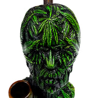 "Leaf Head Hand Crafted Pipe (6.5"") - Shag Alternative Superstore"