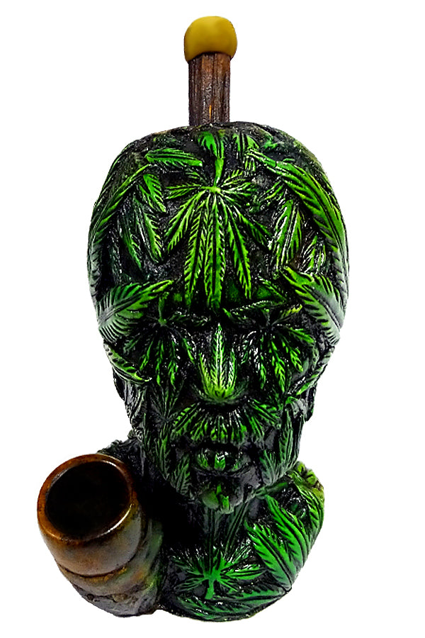 Leaf Head Hand Crafted Pipe (6.5