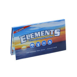 Elements Single Wide Rolling Papers - Double Pack