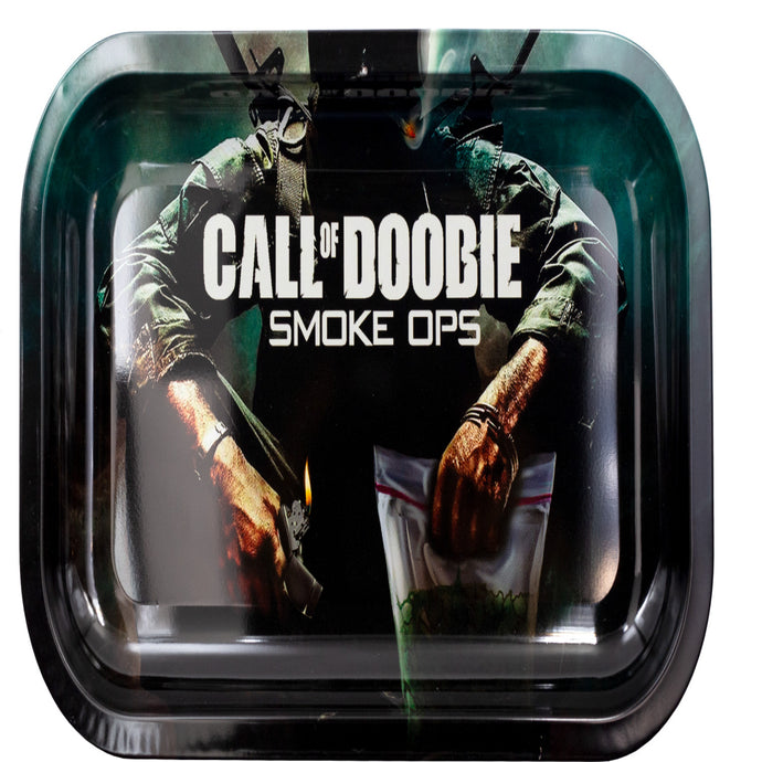 Call of Doobie Metal Rolling Tray - Medium - Shag Alternative Superstore