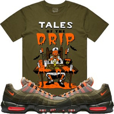Planet of the Grapes Tales of the Drip Olive T-Shirt - Shag Alternative Superstore
