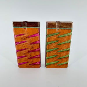 "Rosewood Wood Grip Dugout Box (4"")"