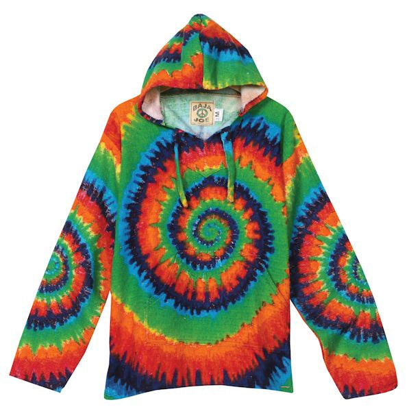 Tie Dye Baja Pullover Hoodie - Shag Alternative Superstore
