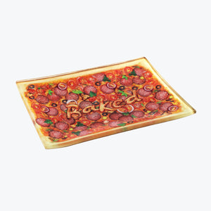 Baked Pizza Glass Rolling Tray - Small - Shag Alternative Superstore