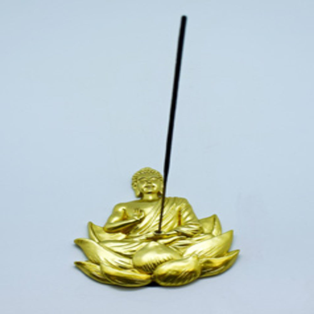 Gold Buddha Incense Burner