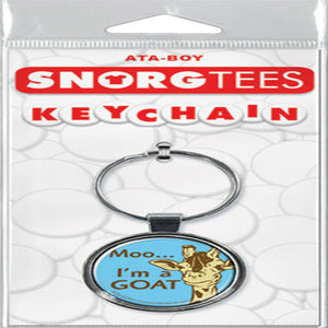 Moo I'm A Goat Keychain - Shag Alternative Superstore