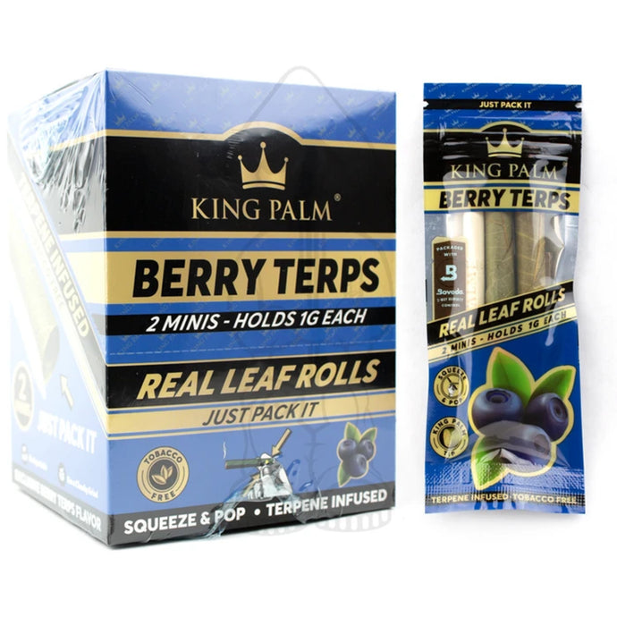 King Palm Berry Terps Leaf Rolls - 2 Minis