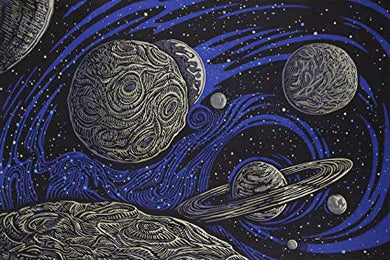 3-D Glow In The Dark Galactic Space Tapestry (90