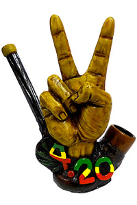 "Peace 420 Hand Crafted Pipe (5.5"") - Shag Alternative Superstore"