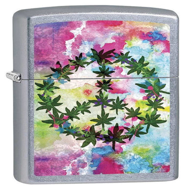 Leaf & Peace Design Zippo Lighter