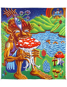"3-D Shroom Muncher Tapestry (85""x100"") - Shag Alternative Superstore"