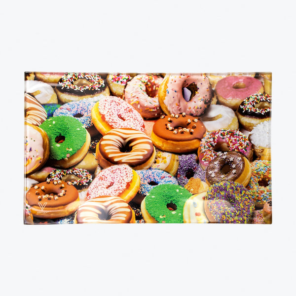 Donuts Glass Rolling Tray - Medium - Shag Alternative Superstore