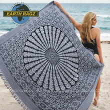 "Load image into Gallery viewer, Spiral Mandala Tapestry Blanket (80""x60"") - Asst Colors - Shag Alternative Superstore"