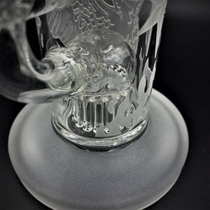 "Milky Way Glass Sandblasted Phoenix Rig (9"") - Shag Alternative Superstore"