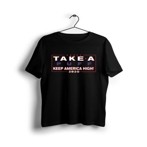 Keep America High Black T-Shirt - Shag Alternative Superstore