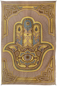 "Hamsa Hand Tapestry (52""x80"") - Assorted Colors - Shag Alternative Superstore"