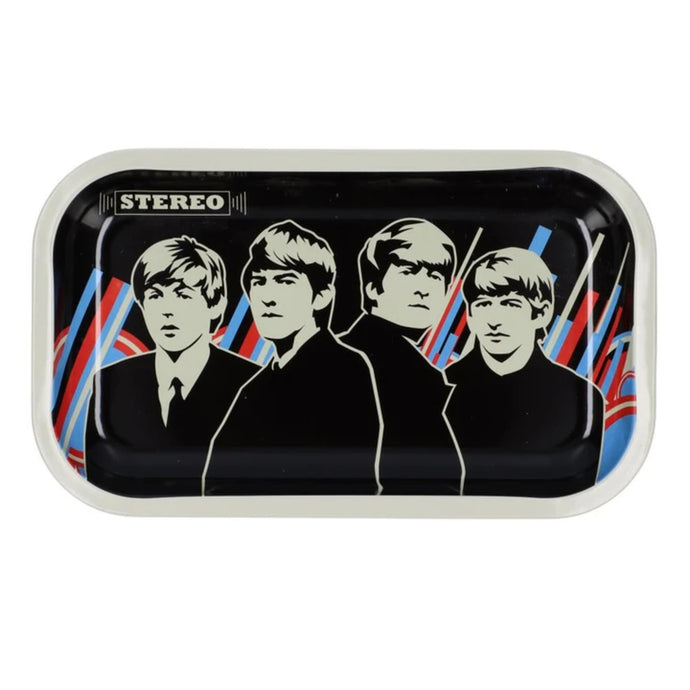 Famous Brandz: Rock Legends Fab 4 Stereo Metal Rolling Tray - Medium