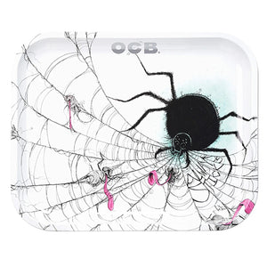 OCB Metal Rolling Trays - Spider - Shag Alternative Superstore