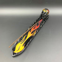 Red/Yellow Flame Skull Incense Burner - Shag Alternative Superstore