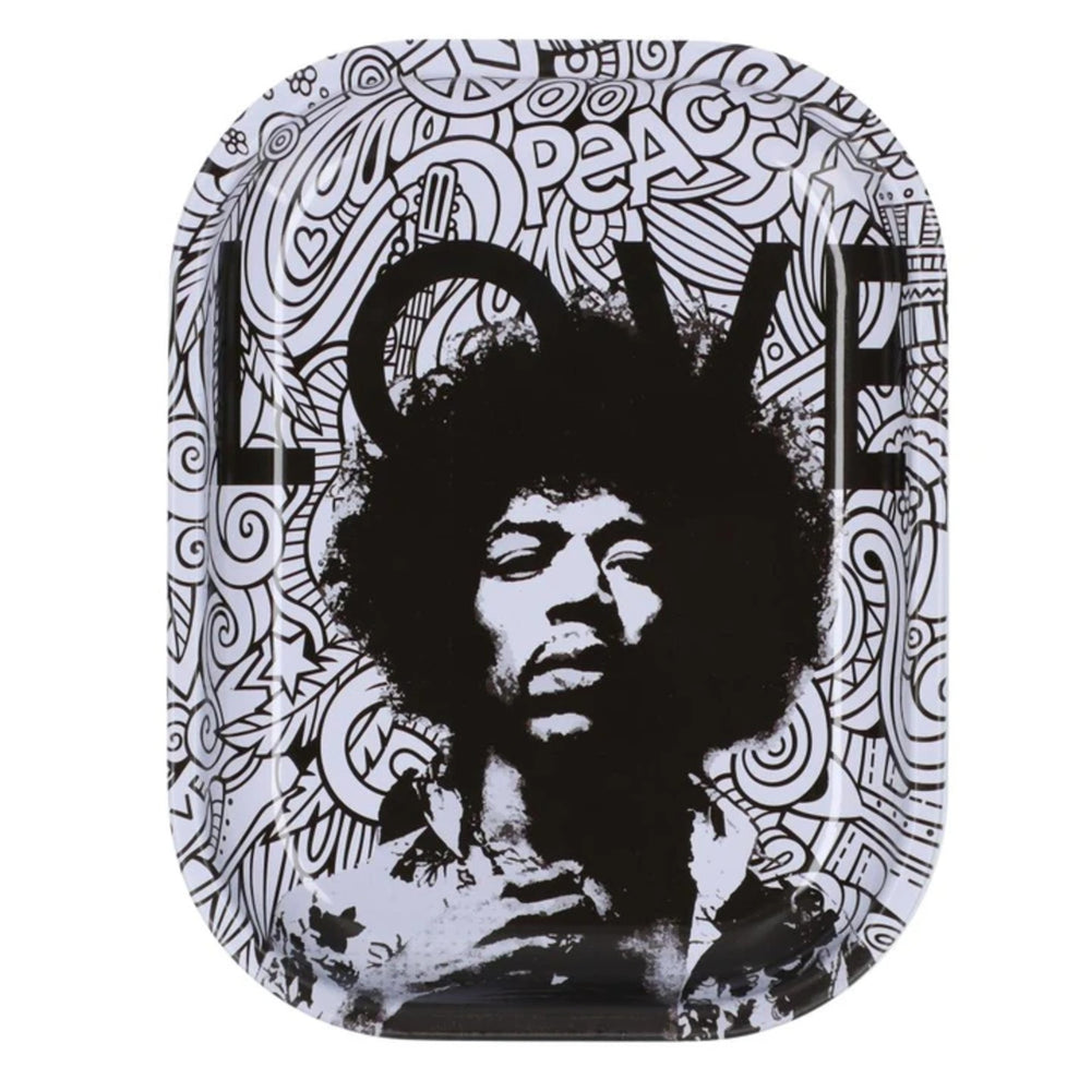 Famous Brandz: Rock Legends Jimi Love Metal Rolling Tray - Small