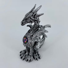 "Load image into Gallery viewer, Silver Dragon Figurine (4.5"")"