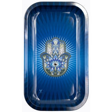 Load image into Gallery viewer, Blue Hamsa Metal Rolling Tray - Shag Alternative Superstore