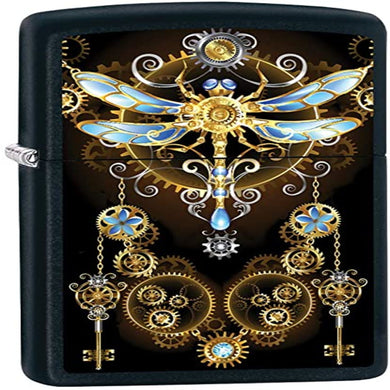 Dragonfly Steampunk Zippo Lighter
