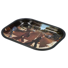 Load image into Gallery viewer, Famous Brandz: Rock Legends Fab 4 Abbey Road Metal Rolling Tray - Small