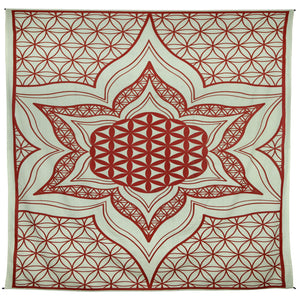 "Flower Of Life Tapestry (52""x80"")  - Assorted Colors - Shag Alternative Superstore"