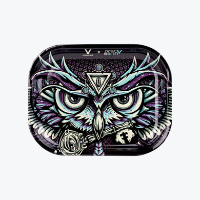 First Earth Owl Metal Rolling Tray - Shag Alternative Superstore
